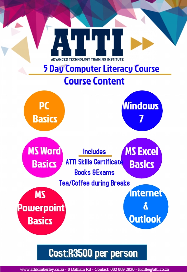 Computer Literacy - ATTI Kimberley - Quality Education Courses ...